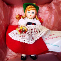 MADAME ALEXANDER 8 in Switzerland Dolls Of the World MIB #594 1983
