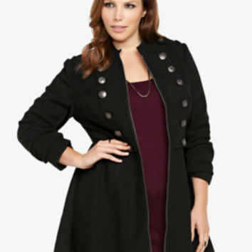 Torrid Women's Long Military Coat