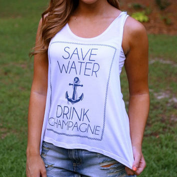 Womens Casual Anchor Tank Top Gift 65