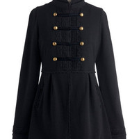 Knitted Dove Regiment to Be Coat | Mod Retro Vintage Coats | ModCloth.com