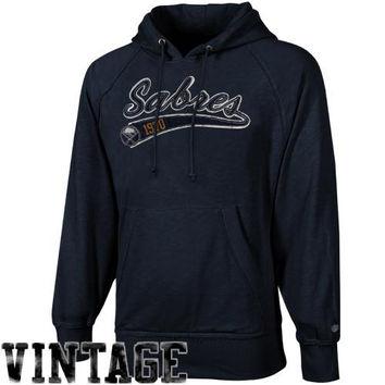 Old Time Hockey Buffalo Sabres Hudson Pullover Hoodie - Navy Blue