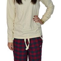 Christmas Flannel with Ivory Trim (pants) - Fraternity Collection