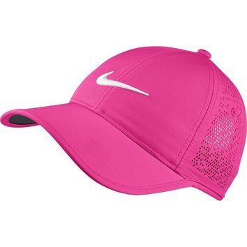DCCKUG3 Nike Women's Golf Cap (Variety Of Colors Available) (Hyper Pink/Anthracite/White)