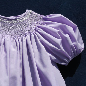 Size 18 Month Hand Smocked Purple Toddler Dress