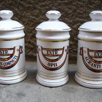 Antique small Apothecary Jars
