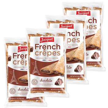 Jacquet Chocolate French Crepes 6 Crepes x 4 Packs