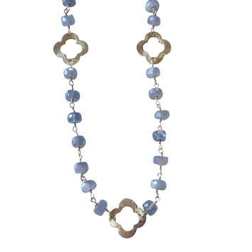 Nina Long Labradorite Quatrefoil Necklace