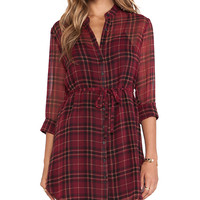 Jack by BB Dakota Abrie Plaid Dress in Red