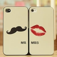 Cute Moustache and Lips Case for iPhone