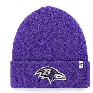 Baltimore Ravens Cuffed Winter Beanie '47 Brand Hat/Cap - Adult OSFM - NWT