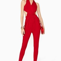 Donna Jumpsuit - Red