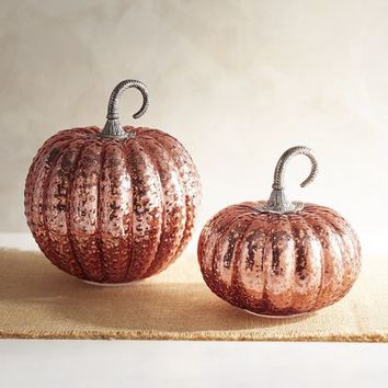 Copper Glass Pumpkins