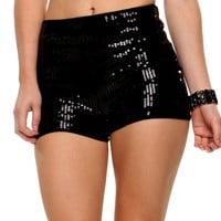 Promo-Black Sparkle Night Shorts