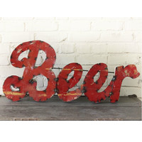 BEER METAL WALL ART SIGN