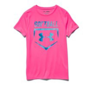 Under Armour Girls UA Softball T-Shirt