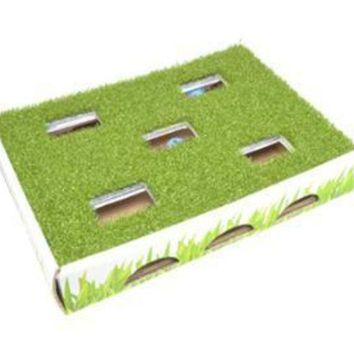 ONETOW Petstages Grass Patch Hunting Box Invironment Cat Toy