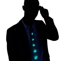 Weed LED Tie Light Up and Sound Activated