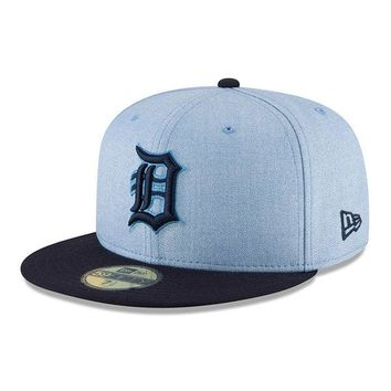 MLB Detroit Tigers Light Blue 2018 Father's Day On Field 59FIFTY Fitted Hat