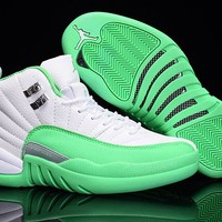 "2017 ""Cherry"" Air Jordan 12 Gym Green/white"