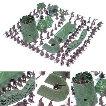 100PCS 3CM Army Combat Men Kid Toy Soldiers Military Plastic Figurine Action Figure