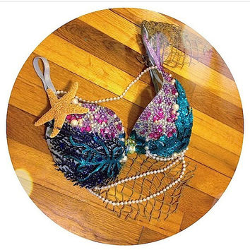 Mermaid Rave Bra - Custom Order Only