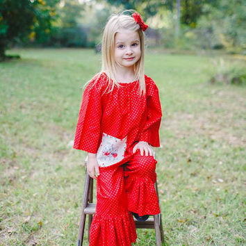 Girls Valentines Day Outfit - Toddler Outfit - Little Girls Outfit - Sizes 2t 3t 4t 5t 6 7 8 10 - Toddler Valentines Day Outfit