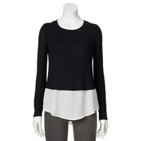 Apt. 9 Mock-Layer Crewneck Sweater - Women's