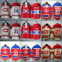 Mens Sweatshirts Montreal Canadiens 14 Tomas Plekanec 27 Alex Galchenyuk 31 Carey Price 33 Patrick Roy Hockey Hoodie Stitched Jersey Hoodies