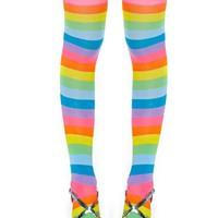 Chasing Rainbows Thigh High Socks