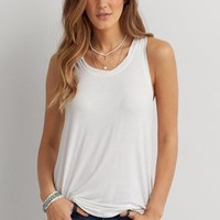 AEO Braided Strap Tank , Washed Black | American Eagle Outfitters