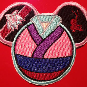 Disney Mulan Mouse Ear Embroidered Patch Disney Princess