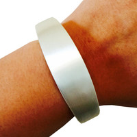 """Fitbit Bracelet for FitBit Flex - The TORY 7"""" Inch Brushed Silver Fitbit Bracelet - Simple, Classy, and Versatile - FREE Shipping!"""
