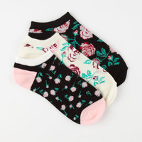 Full Tilt 3 Pack Womens No Show Socks Black Combo One Size For Women 24255914901