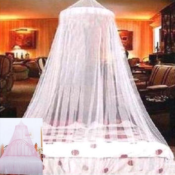 Mosquito Net Bed Canopy Dome Elegant Lace Netting (Random color) = 1958165124