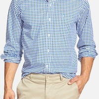 Men's Southern Tide Trim Fit Gingham Cotton Blend Sport Shirt,