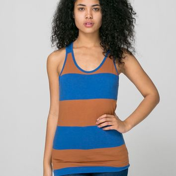rsaws408w - Unisex Cotton Wide Stripe Jersey Tank