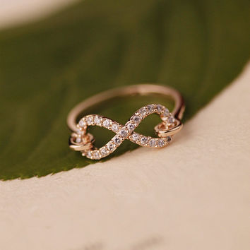 Infinity CZ Ring Gold