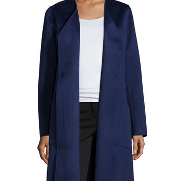 Mairene Cashmere Long Coat, Dusk