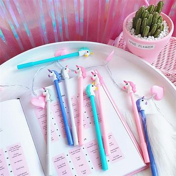 Unicorn Cartoon Gel Pen