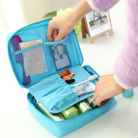 Light Blue Outdoor Travel Camping Wash Cosmetic Bags