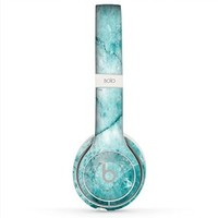 The Cracked Turquise Marble Surface Beats by Dre Solo 2 Wireless Headphones Skin