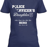 Police Officer's  Daughter - Front Print