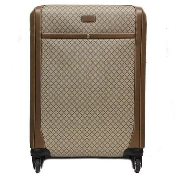 Gucci Men's Wheel Brown Supreme Canvas Carry-On Suitcase Luggage 293908 Large