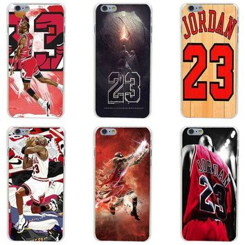 143GH hot Michael for Jordan 23 Hard Transparent Painted Cover for iphone 4 4s 5 5s 6