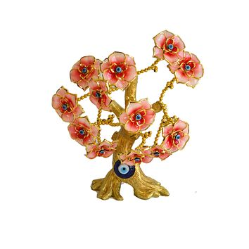 Evil Eye Butterfly Tree Decoration for Protection and Brings Good Luck (Red)Tree