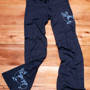 let me think on it Corgi Pants, Lounge Pants, Wide Leg Pants, S M L XL