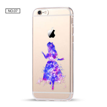 Alice Clear Soft Disney Phone Case For iPhone 7 7Plus 6 6s Plus 5 5s SE C