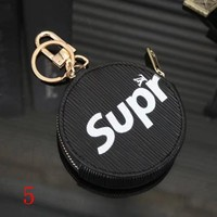 LV x Supreme Louis Vuitton Fashion Round Leather Key Pouch Wallet Coin Purse