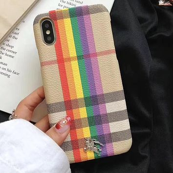 Perfect Burberry Fashion  Phone Cover Case For  iphone 6 6s 6plus 6s-plus 7 7plus 8 8plus X