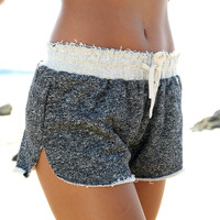 Charcoal Marle Shorts | SABO SKIRT